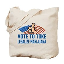 Funny Legalize Marijuana Tote Bag