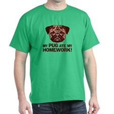 My Pug Ate My Homework T-Shirt