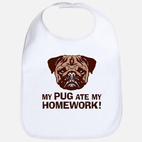 My Pug Ate My Homework Bib