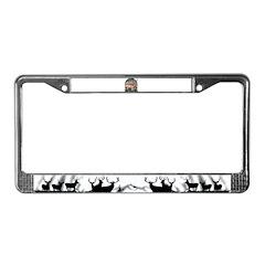 Trophy Hunter, mule deer License Plate Frame