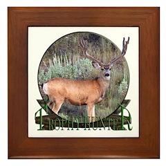 Trophy Hunter, mule deer Framed Tile