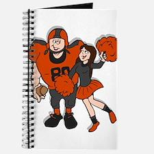 FOOTBALL *9* {orange/gray} Journal