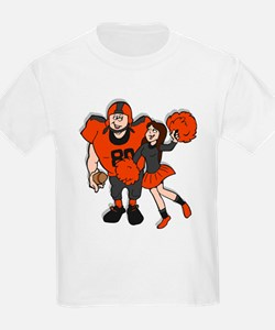 FOOTBALL *9* {orange/gray} T-Shirt
