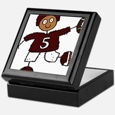FOOTBALL *10* {crimson} Keepsake Box