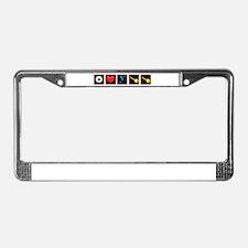 I Love Waikiki License Plate Frame