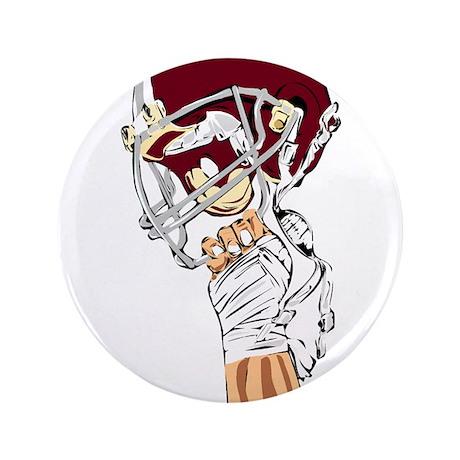 "FOOTBALL *13* {crimson} 3.5"" Button (100 pack)"
