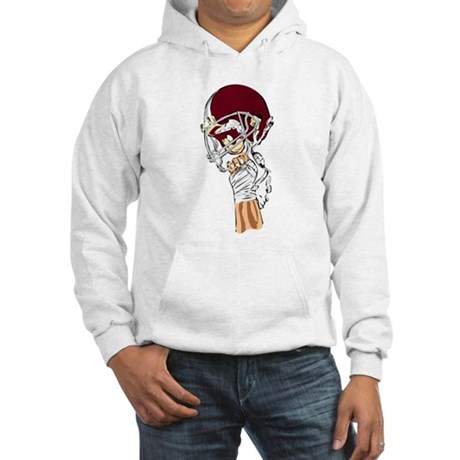 FOOTBALL *13* {crimson} Hooded Sweatshirt