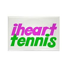 iheart tennis Rectangle Magnet