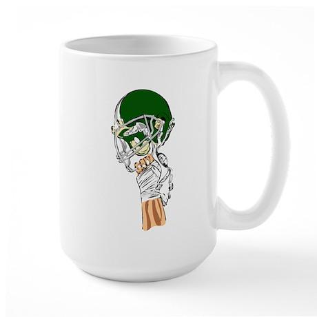FOOTBALL *13* {green} Large Mug