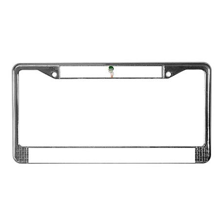 FOOTBALL *13* {green} License Plate Frame