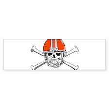 FOOTBALL *15* {orange} Bumper Sticker