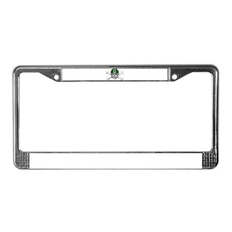 FOOTBALL *15* {green} License Plate Frame