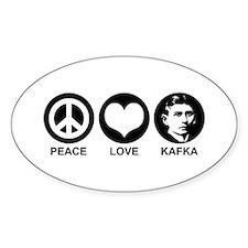 Peace Love Kafka Decal