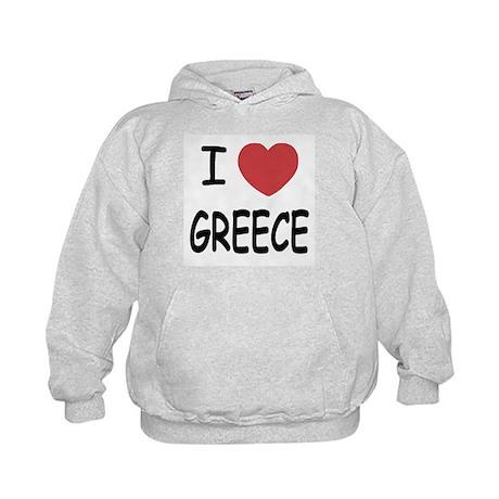 I heart Greece Kids Hoodie