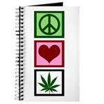 Peace Love Weed Journal