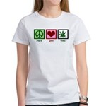 Peace Love Weed Women's T-Shirt