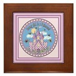 Princess Castle Framed Tile