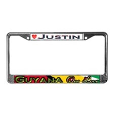 Cute Justin License Plate Frame