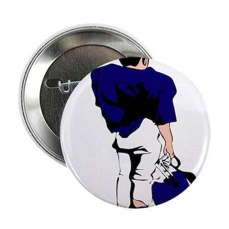 """FOOTBALL *22* {blue} 2.25"""" Button (100 pack)"""