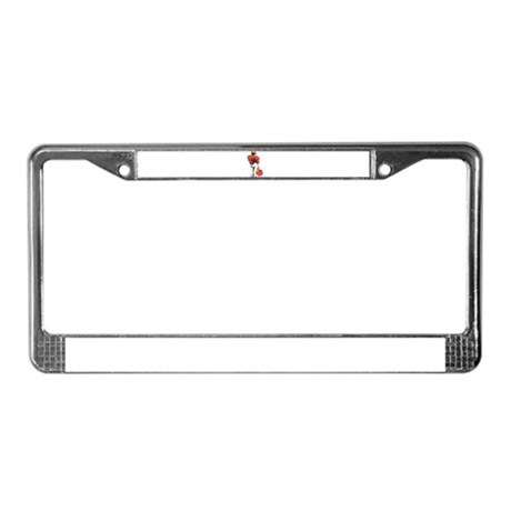 FOOTBALL *22* {red/white} License Plate Frame