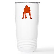 FOOTBALL *23* {orange} Travel Mug