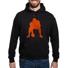 FOOTBALL *23* {orange} Hoodie
