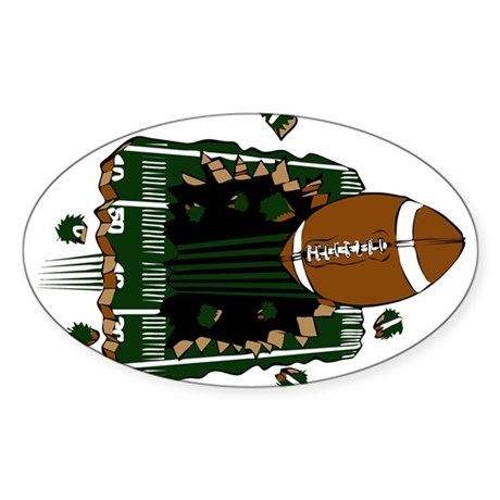 FOOTBALL *24* {green} Sticker (Oval 10 pk)