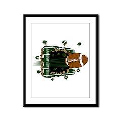 FOOTBALL *24* {green} Framed Panel Print