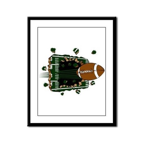 FOOTBALL *24* {green} Framed Panel Print