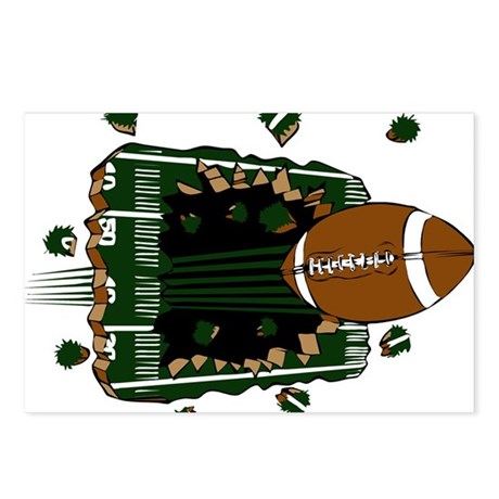 FOOTBALL *24* {green} Postcards (Package of 8)