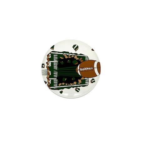 FOOTBALL *24* {green} Mini Button (100 pack)