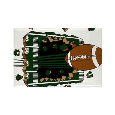 FOOTBALL *24* {green} Rectangle Magnet