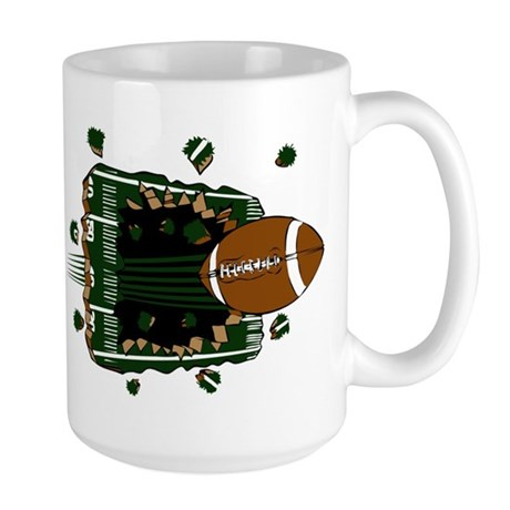 FOOTBALL *24* {green} Large Mug