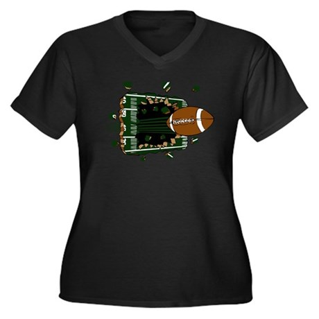 FOOTBALL *24* {green} Women's Plus Size V-Neck Dar