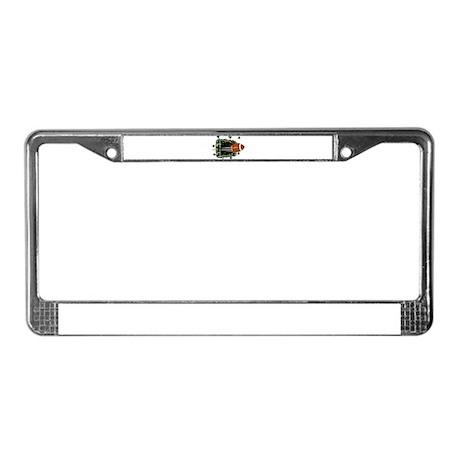 FOOTBALL *24* {crimson/white} License Plate Frame