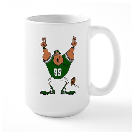 FOOTBALL *25* {green} Large Mug
