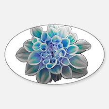 Cute Artistic flower Sticker (Oval)