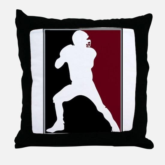 FOOTBALL *26* {crimson/white} Throw Pillow