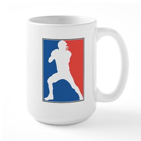 FOOTBALL *26* {red/white/blue Large Mug