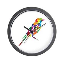 Abstract Bird Wall Clock