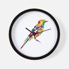 Abstract Bird Wall Clock