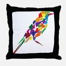 Abstract Bird Throw Pillow