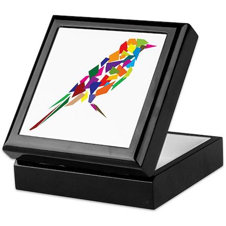 Abstract Bird Keepsake Box