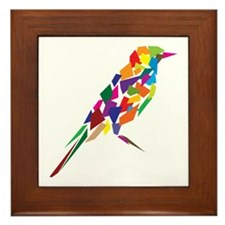 Abstract Bird Framed Tile