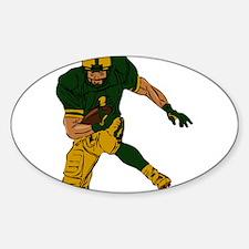 FOOTBALL *29* {green/gold} Decal
