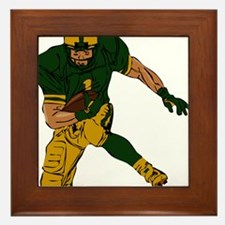 FOOTBALL *29* {green/gold} Framed Tile