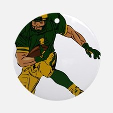 FOOTBALL *29* {green/gold} Ornament (Round)