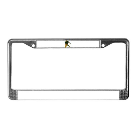 FOOTBALL *29* {green/gold} License Plate Frame
