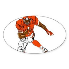 FOOTBALL *29* {orange} Decal