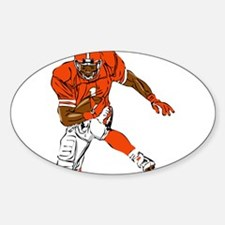 FOOTBALL *29* {orange} Decal